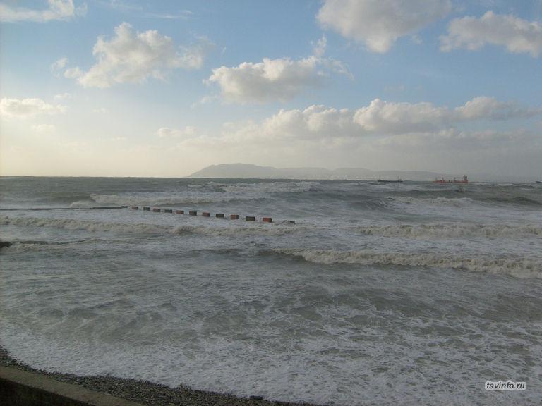 Пляж Смены во время шторма