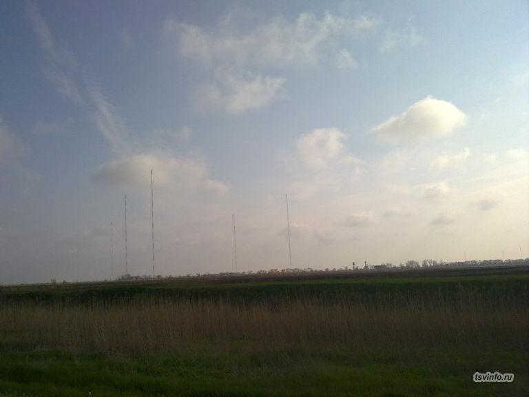Антенны по пути на Чебургольскую