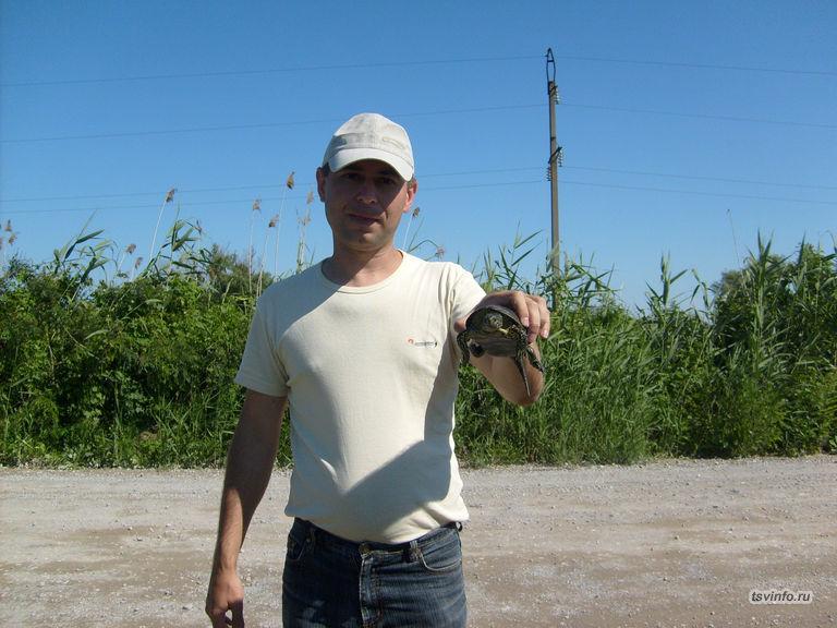 Поймал черепашку
