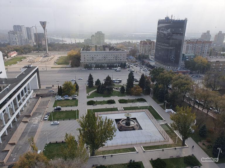 Вид из колеса обозрения Ростова на Дону